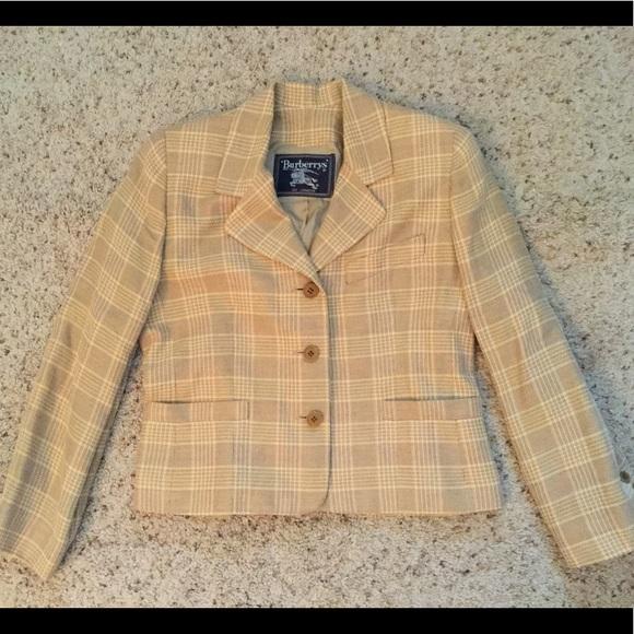 Burberry Jackets & Blazers - BURBERRY NOVACHECK PLAID LINEN JACKET BLAZER, NWOT